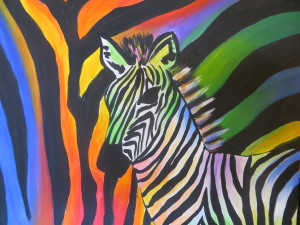 Rainbow Zebra Happy Hour Event
