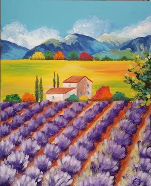 Lilac Tuscan Fields Happy Hour Event / SOLD OUT